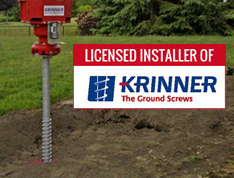 Krinner Ground Screw – Licensed Installer